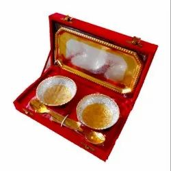 Silver-Gold Plated Bowl Set