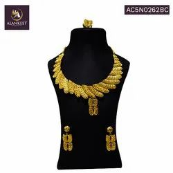 Alankeet Jewellery Ethnic Traditional Indian Gold Plated Necklace Set  for Women