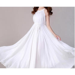 Myrnat White Ladies Western Gown