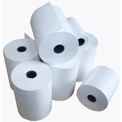 White Plain Thermal Paper Roll, GSM: 75