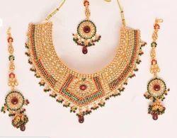 Polki Necklace Gold