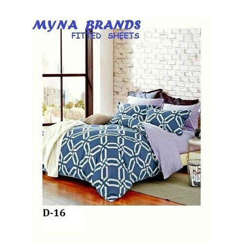 Cotton Double Bed Fitted Bed Sheet