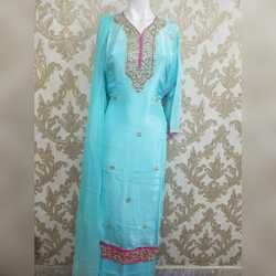 Party Wear Chanderi Embroidered Gotapatti Suit