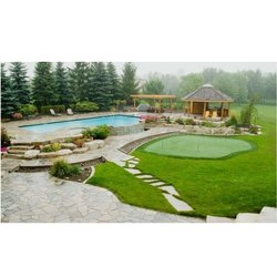 Grass and Plant Pool Landscape Designing Service