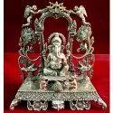 Designer Lord Ganesha Silver Idol, Packaging Type: Box