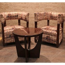 Manhattan Antique Designer Chair And Table, Back Style: Tight Back
