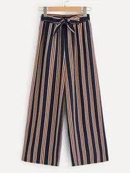 Ladies Printed Striped Palazzo Pants
