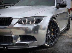Satin Silver Chrome Car Wraps