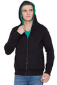 Hood  Jacket - Solid Black - Men