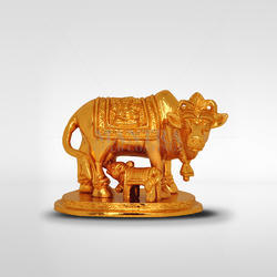 Gold Plated Cow And Calf