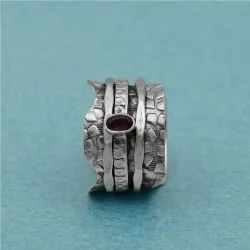 925 Sterling Silver Spinner Ring for Women