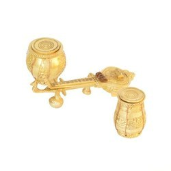 Sitar And Tabla Brass Made Beautiful Showpiece in antique finish, Packaging Type: Bubble Wrap