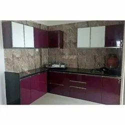 Hitech L Shape Designer Modular Kitchen