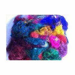 Silk Coloured Yarn Waste