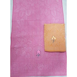 Cotton Jacquard Towel With Embroidery