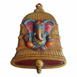 White Metal Ganesha Bell Hanging