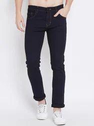 Cotton Men Plain Black Jeans