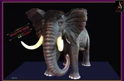 South African Fiber Elephant Statue for Decoration, Size/Dimension: 8 Feet