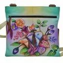 Leather New Floral Hand Painted Bag, Size: 29 X 24 X 7 Cm