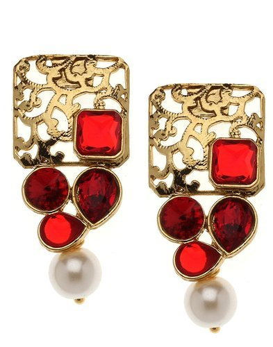 Ruby Gold Earring