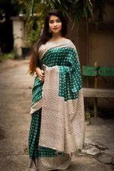 Zari Festive Wear Mayra Silk Soft Weaving, 6 m (with blouse piece)