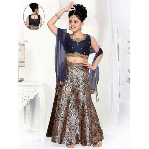 a1e2dc43d0 Georgette Party Wear Kids Designer Lehenga Choli, Rs 850 /piece   ID ...
