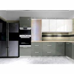 Grey And White Modular Kitchen Rs 2200 Square Feet Matrishakti Enterprises Private Limited Id 19034030155