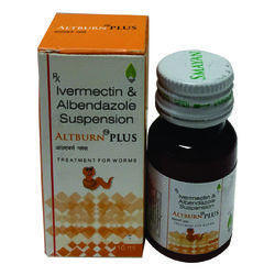 Albendazole 200mg, Ivermactin 3mg / 5mL (with Carton), Bottle Size: 10mL