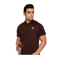 New Sports & Casual Wear Half Sleeves Asics Polo Neck T-Shirt, Size: XL