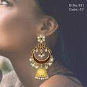 Antique Kundan Hanging Earrings