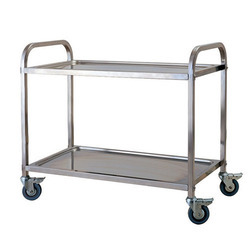 Stainless Steel Sheet Metal 2 Layer Trolley