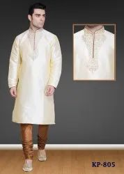Embroidered Neck Kurta Pajama for Men