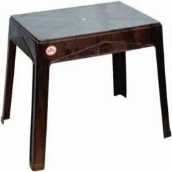 Sunrise Brown Plastic Table for Home, Model Name: 6011