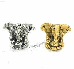 Silver And Golden Car Ganesh