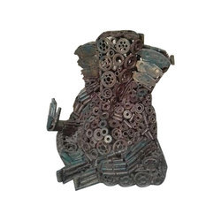 Iron Scrap Lord Ganesha Sculpture