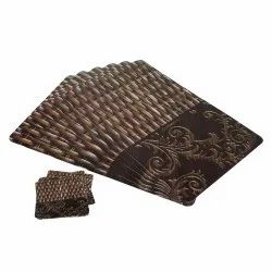 Antique Table Mats With Coasters Set