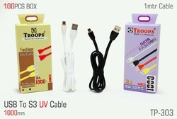 USB to S3 UV 1 Mtr Flat Cable