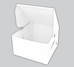 Plain White Cake Box 8 x 8 x 5 Inch