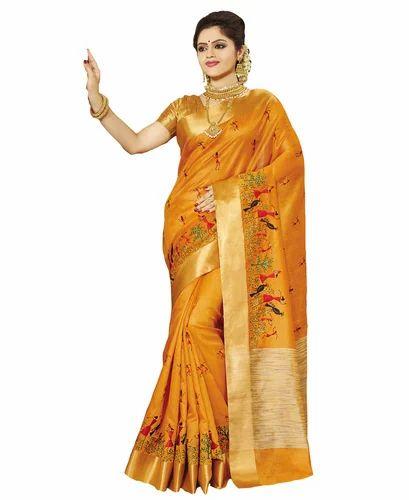 09abddcc01 Fancy Tussar Handloom Silk Sarees, Designer Sarees - Sati Fashions ...