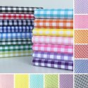 Check Poly Cotton Fabric