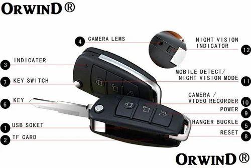 Mini Car Key Chain Hidden Spy Cam Camera DV DVR Video Recorder Camcorder