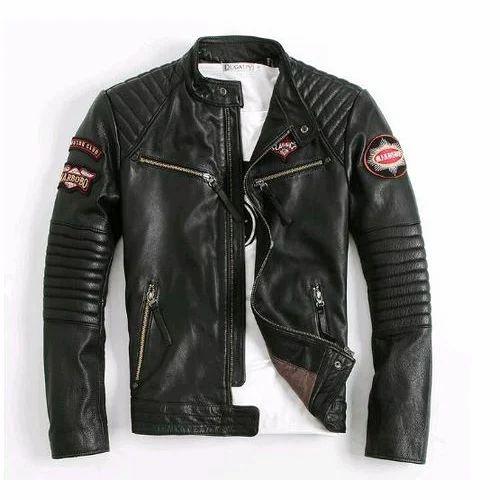 2019 discount sale elegant in style professional sale Mens Biker Leather Jacket