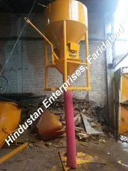 Cone Type Construction Concrete Bucket with Hose Pipe