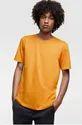 Emerals Men Mustard Orange Solid T-Shirt