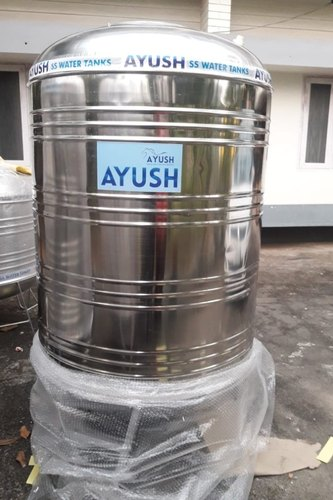 1000l Ss304 Ayush Stainless Steel Water Storage Tank Rs 32500 Set Id 20812263573