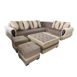 Molfino Fabric 7 Seater L Shape Corner Sofa Set