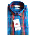 Cotton Mens Check Casual Shirt, Size: S To Xxl