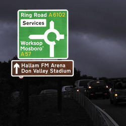 Retro Reflective Direction Signs Board