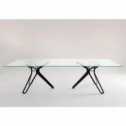 Rectangular Glass Pod Table, Size: 3x4.5 Feet