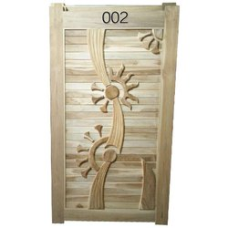 Exterior Waterproof Carved Wood Door
